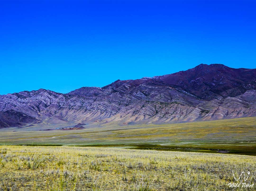 Ketmen mountain range, travel through the mountains of Kazakhstan.