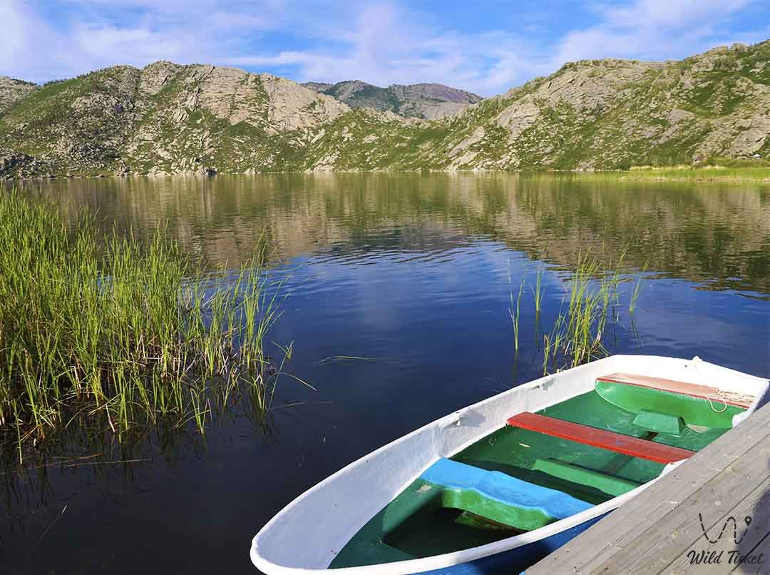 Lake Tortkara is a part of the Sibin Lakes, East Kazakhstan.