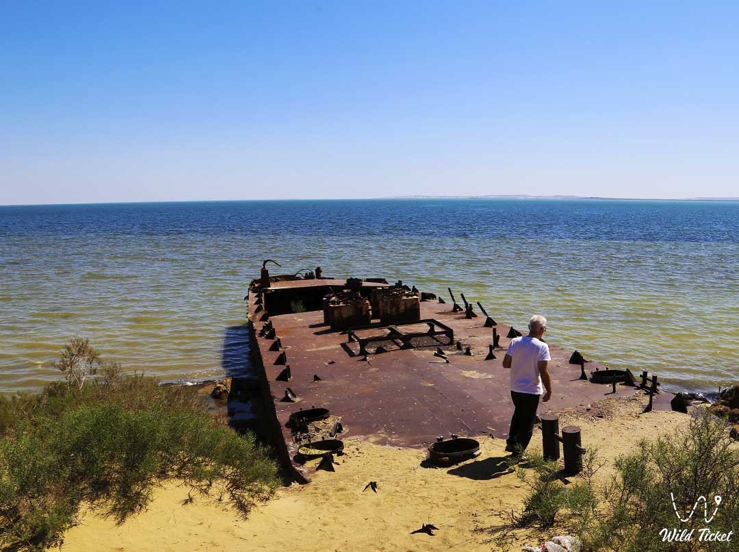 Causes of the drying up of the Aral Sea, Kazakhstan.
