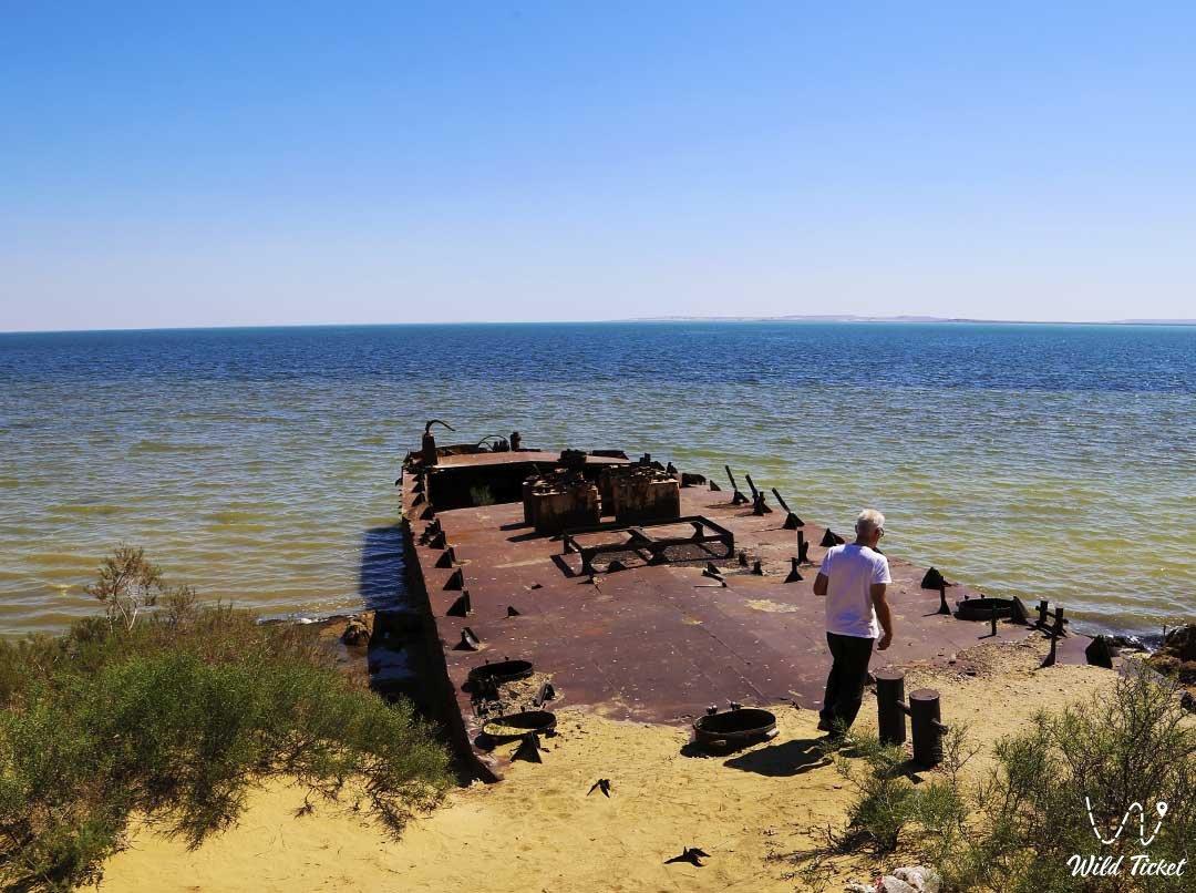 Причины высыхания Аральского моря, Казахстан.