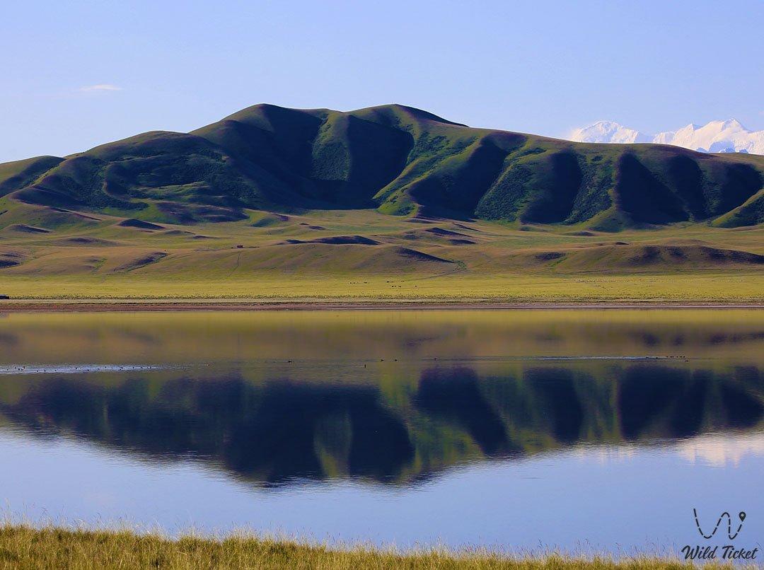 Agatay mud srpirng at Tuzkol lake in the Ulytau mountains, Karaganda region, Kazakhstan.
