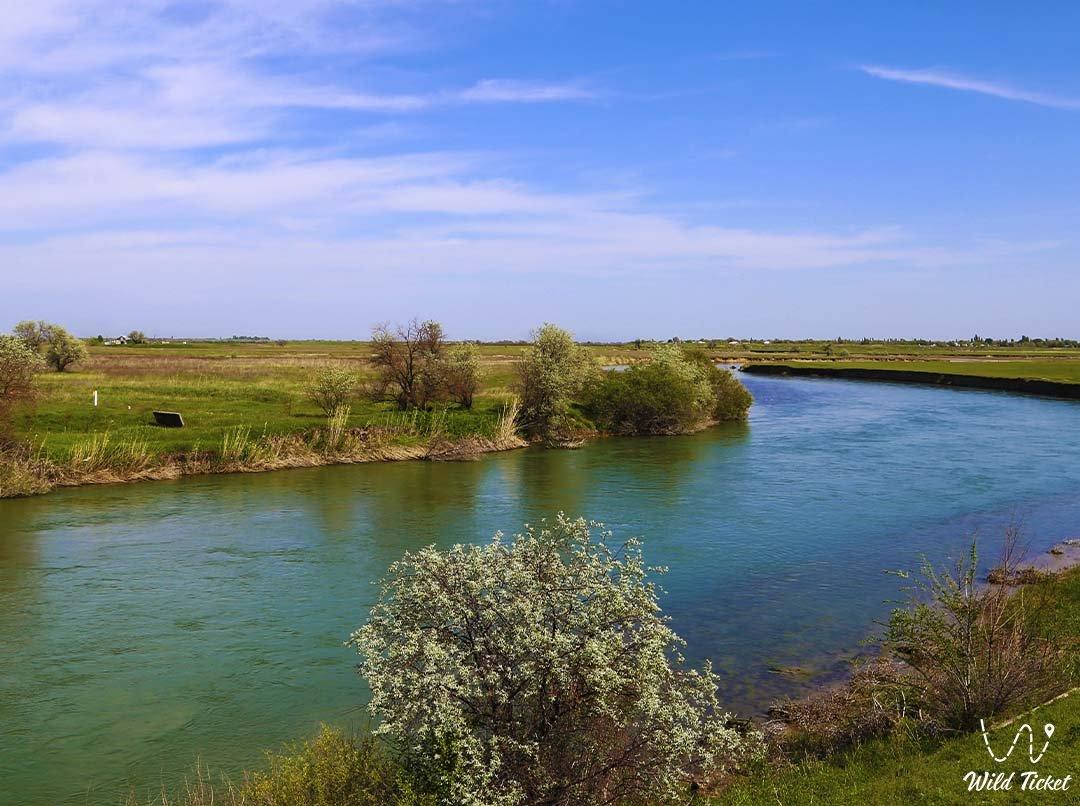 Шу река, Жамбылская область, Казахстан.