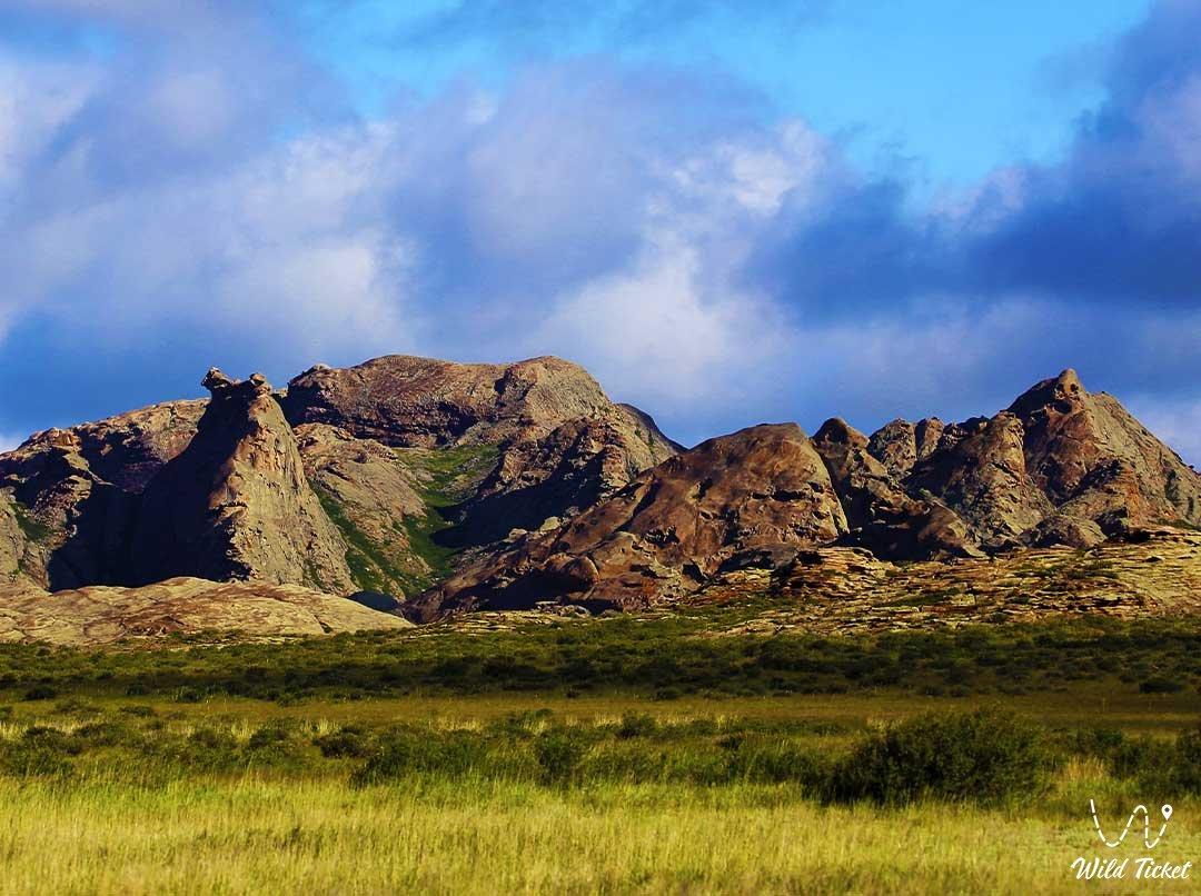 Ayrtau mountains in the Kokshetau natural park.