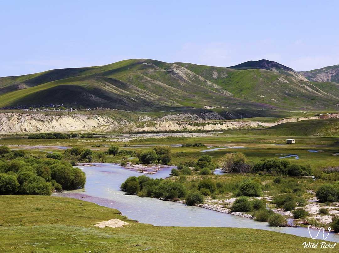 Mountain valley Karkara in Almaty region, Kazakhstan.