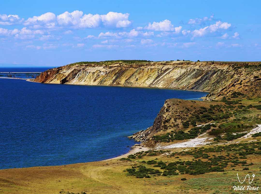 Зайсан озеро в Восточно-Казахстанской области.
