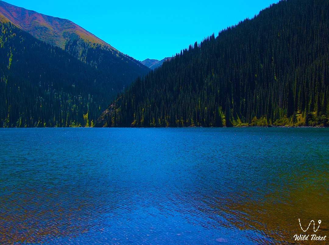 Lake Kolsay middle (second), Kolsay National Natural Park in Kazakhstan.