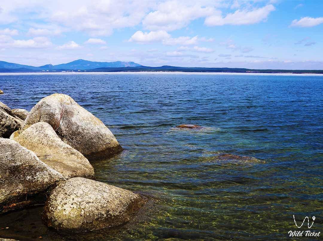Lake Shortankol (Pike lake) in Borovoe, Akmola region, Kazakhstan.