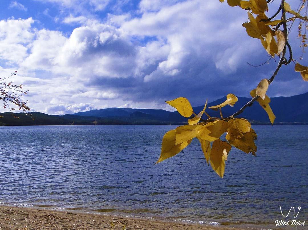 Chebachye lake (big one), Borovoe, Burabay, Kazakhstan.
