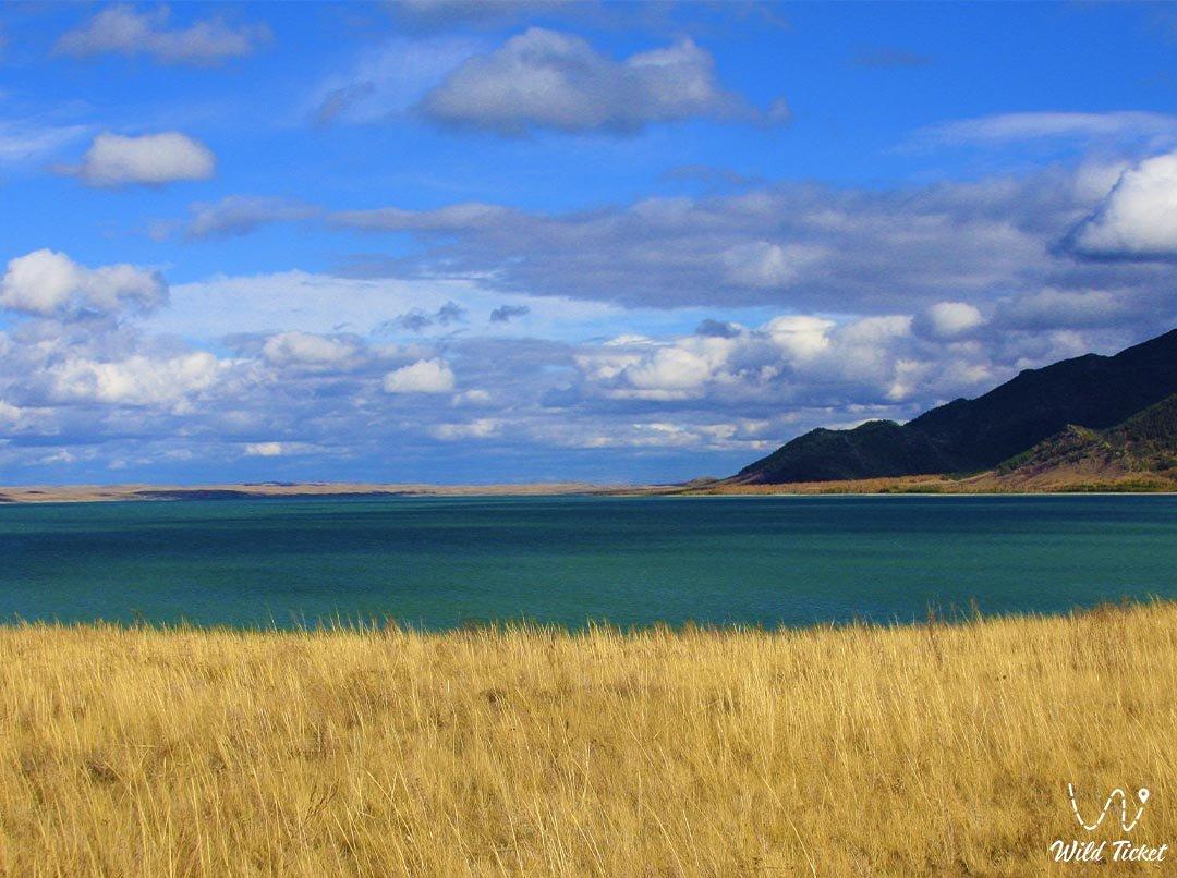 Small Chebachye Lake in Kazakhstan, Borovoe resort, (Burabay).