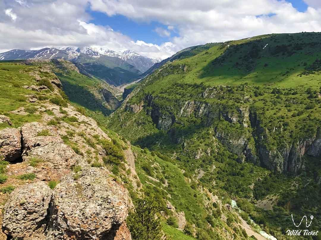 Aksu canyon in the Aksu-Zhabagly nature reserve.
