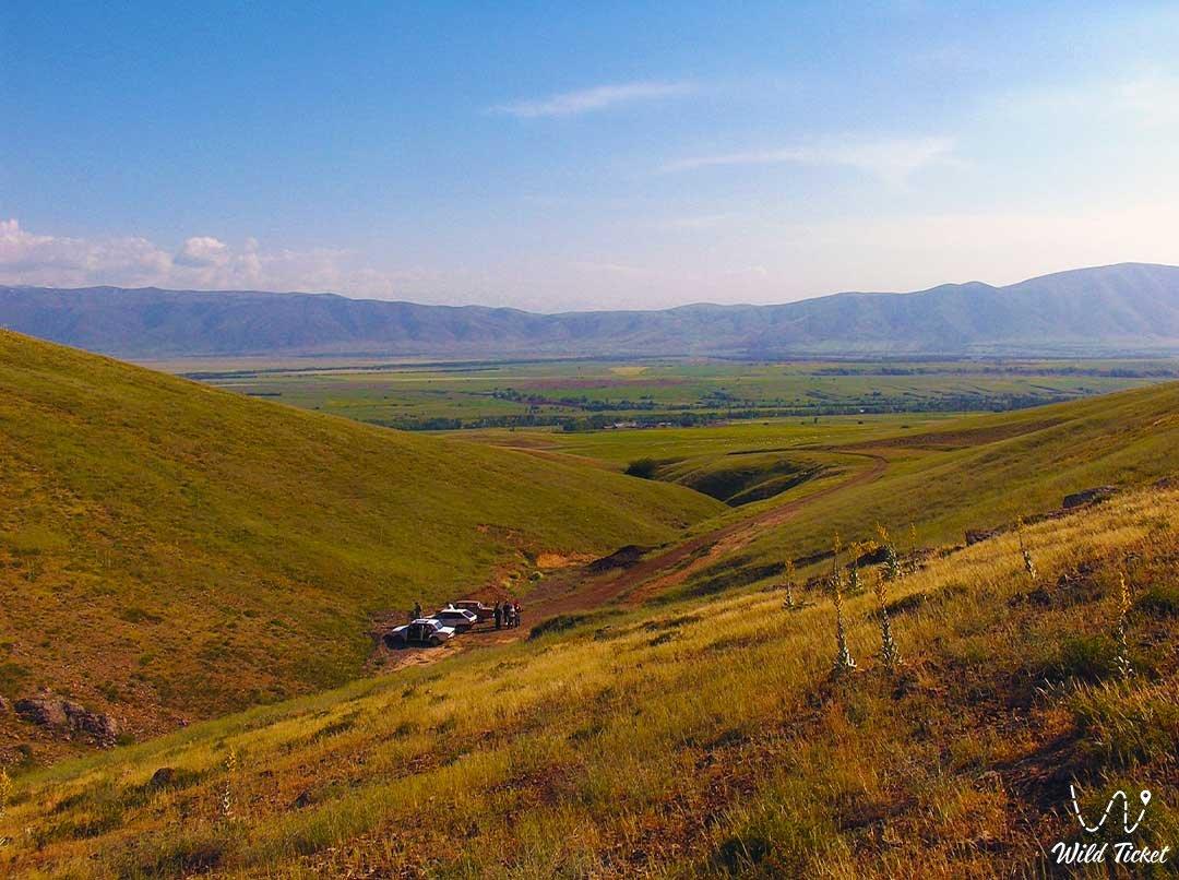 Koksay gorge in Aksu-Zhabagly.
