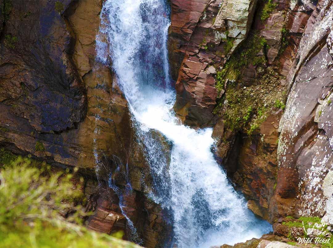 Waterfall on the Kishi-Koyandy river in Aksu-Zhabagly.