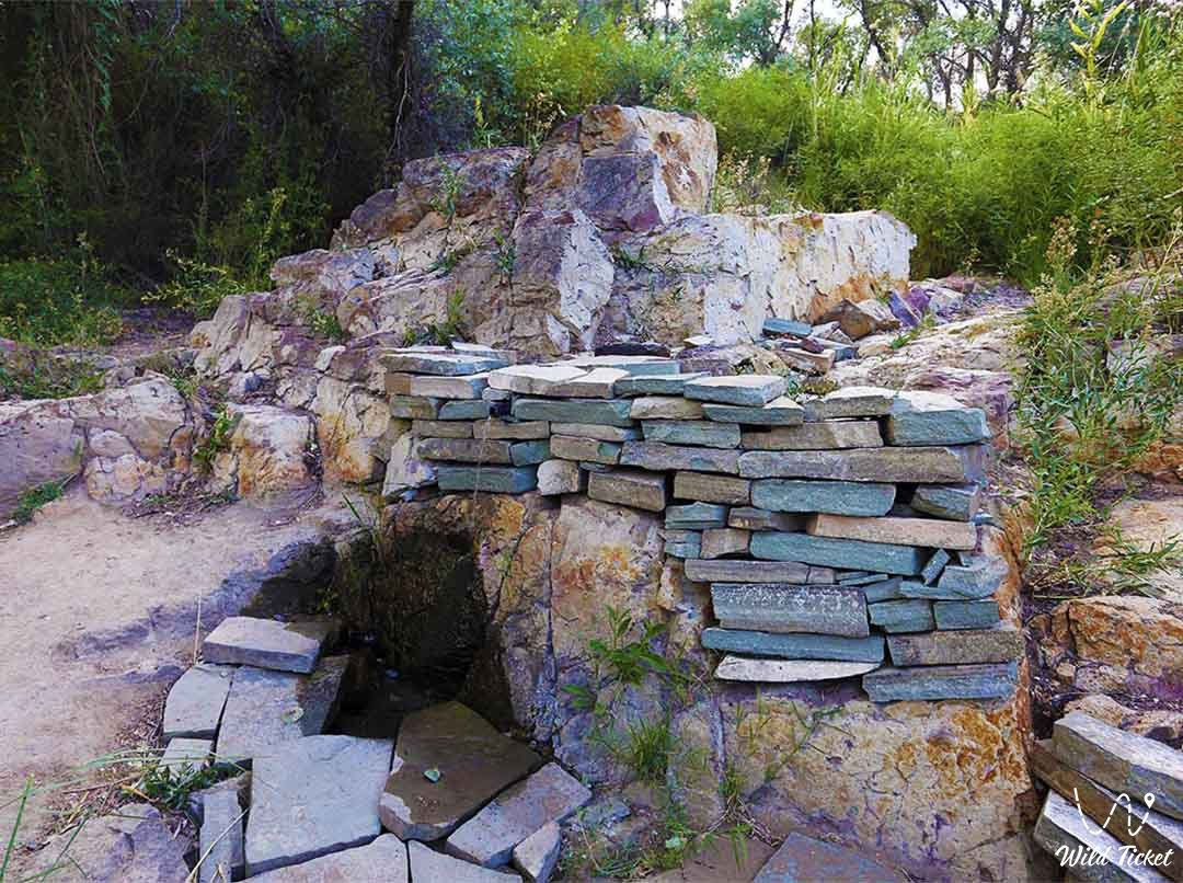 Chokan Valikhanov's water spring in the Altyn-Emel park.