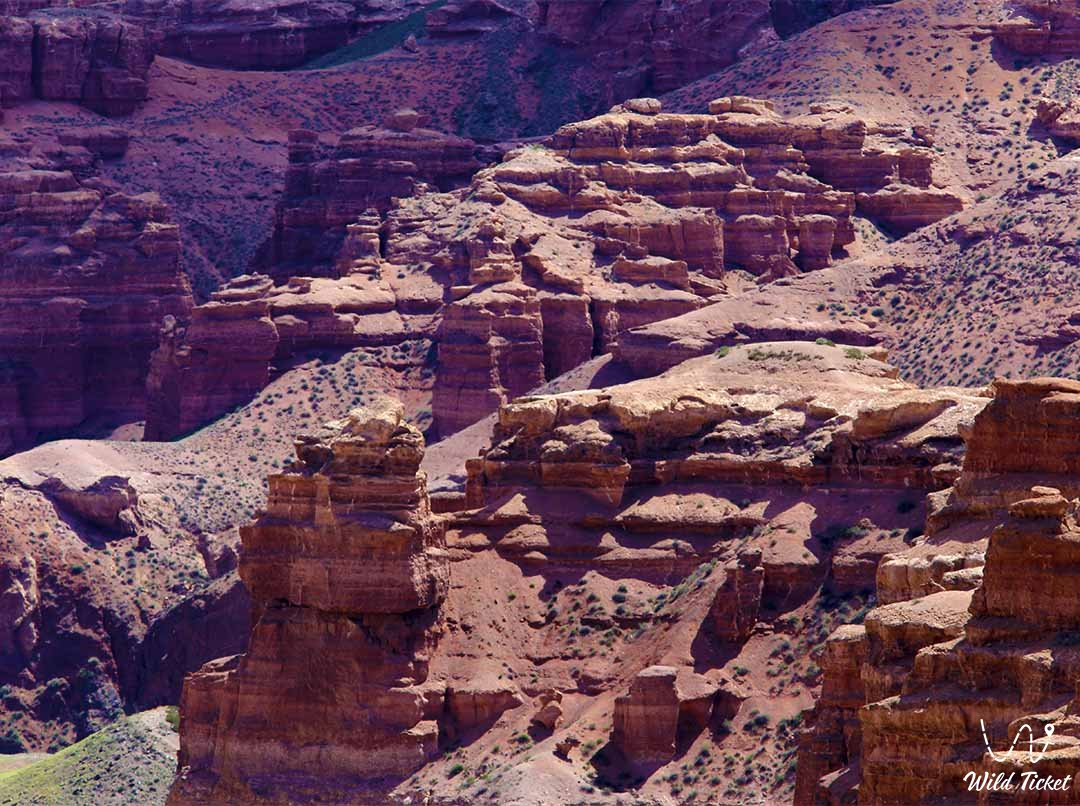 Charyn canyon (valley of castles) - a natural object in Charyn park