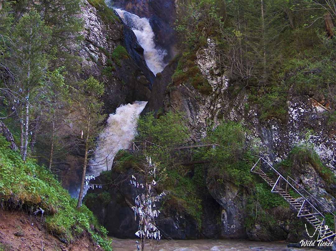 Kairak waterfall in the Turgen gorge
