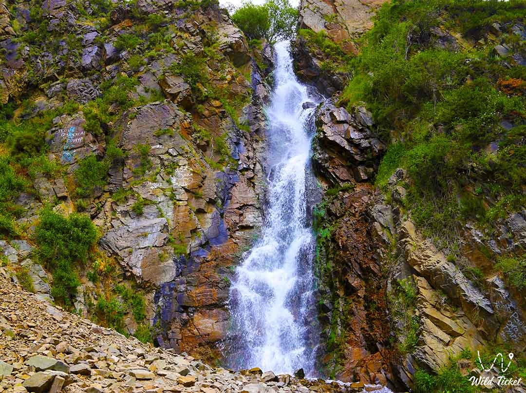 Bear waterfall (Medvezhiy) in the Turgen gorge