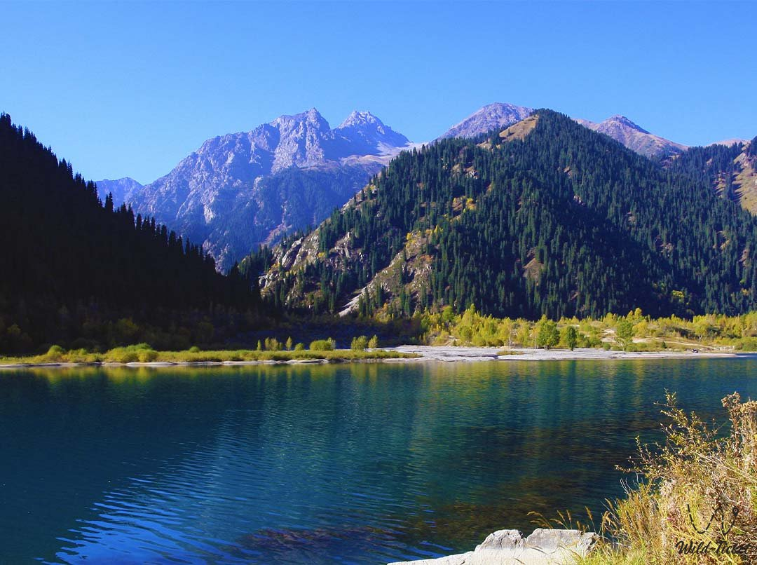 Issyk lake in the Almaty nature reserve.