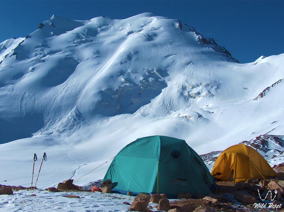 Aktyuz mountain pass in the upper reaches of the Talgar gorge.