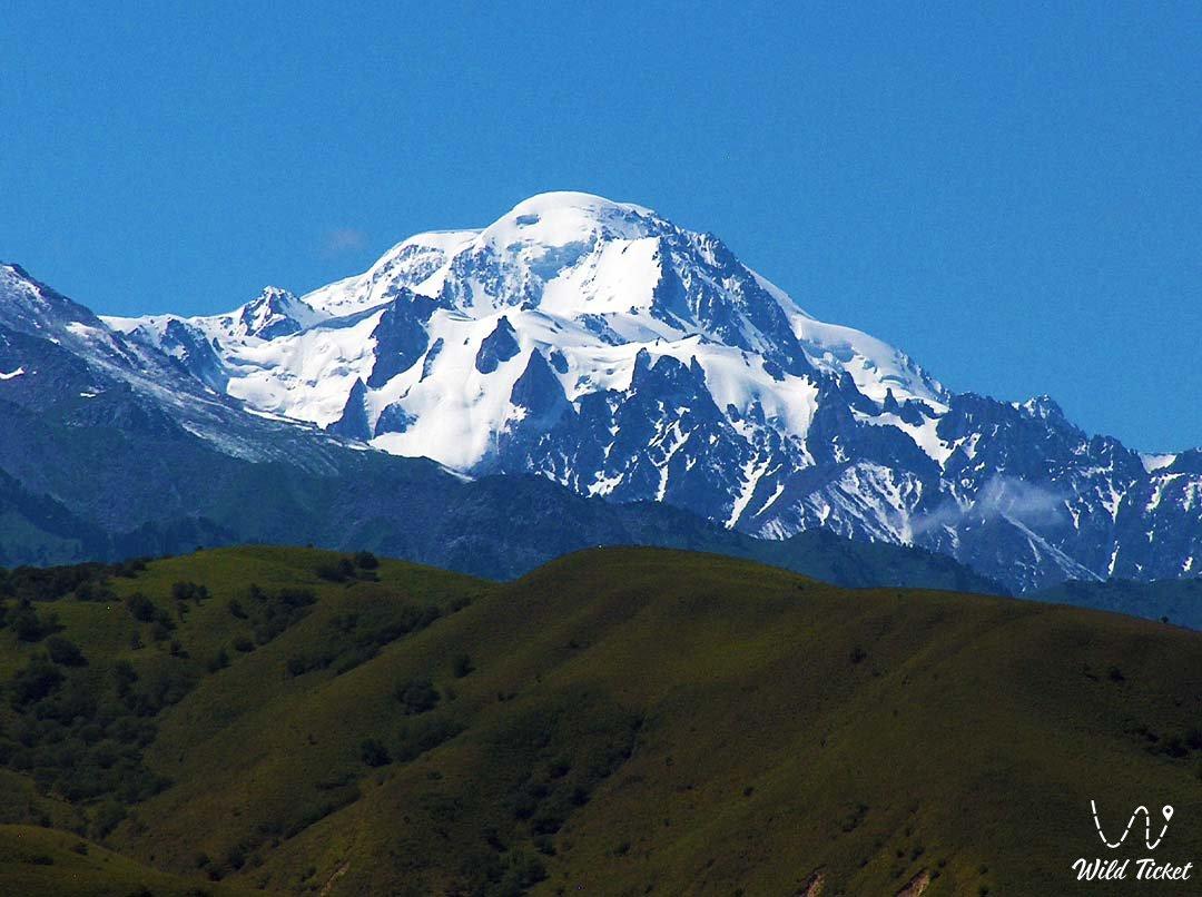 Talgar mountain range.