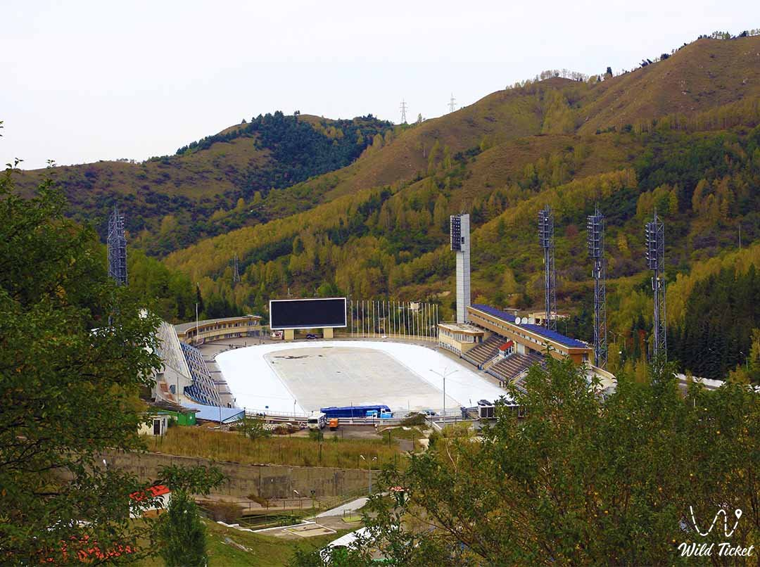 Medeu is a high-mountain skating rink in the Small Almaty gorge.