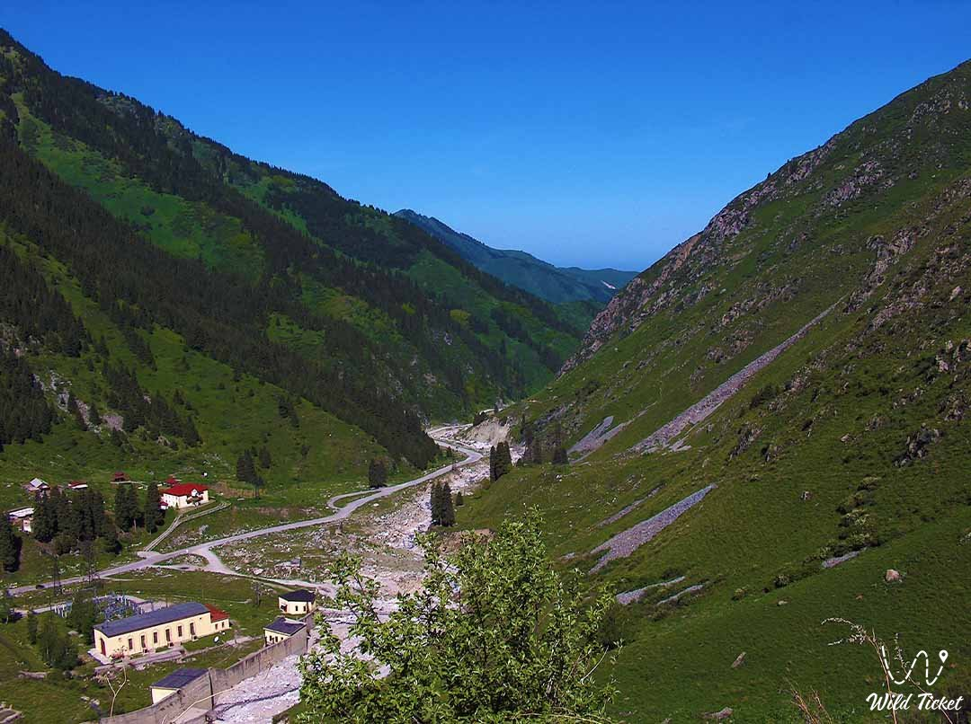 Ayusai gorge in the mountains of the city of Almaty