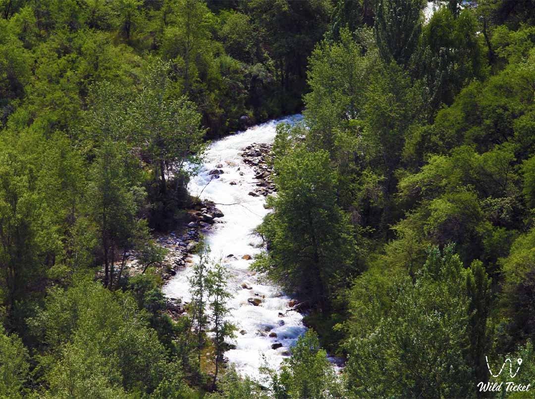 Aksai river.