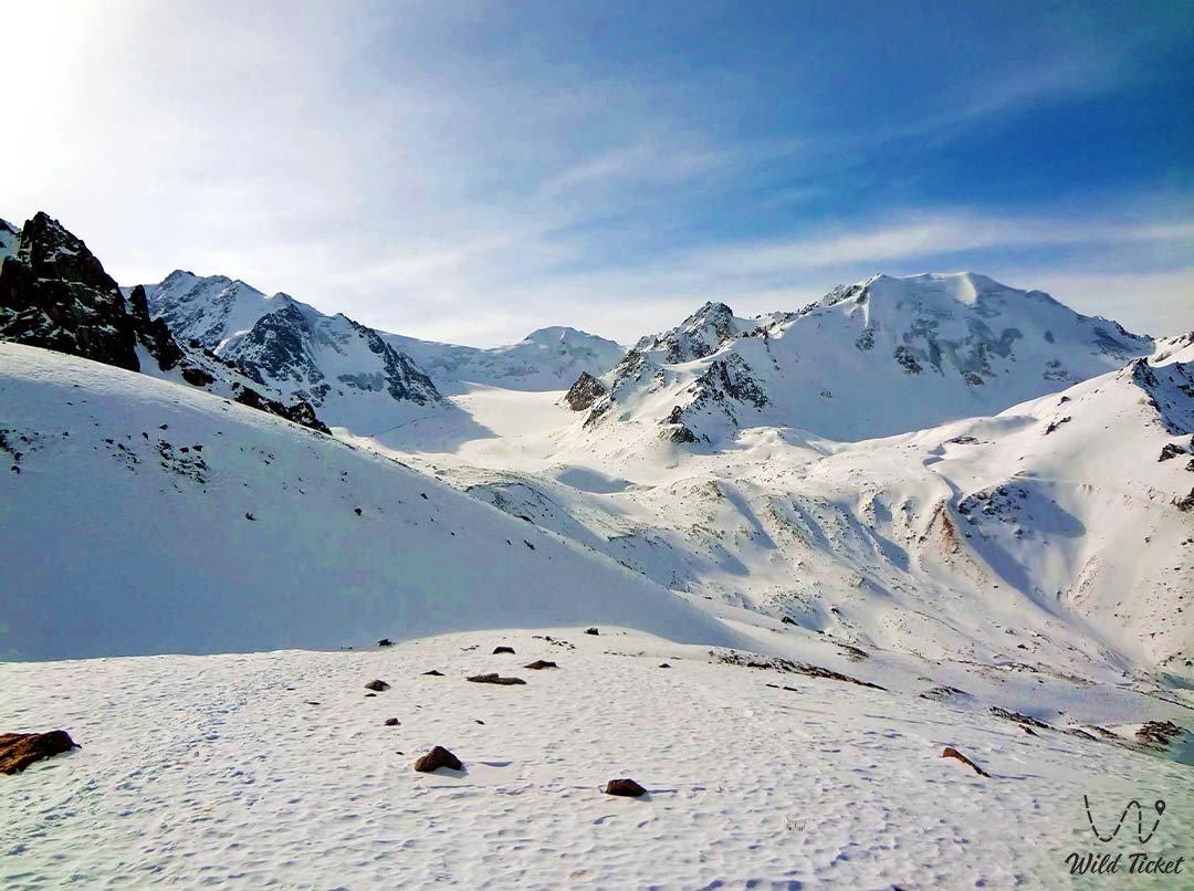 Peak and lake Manshuk Mametova.