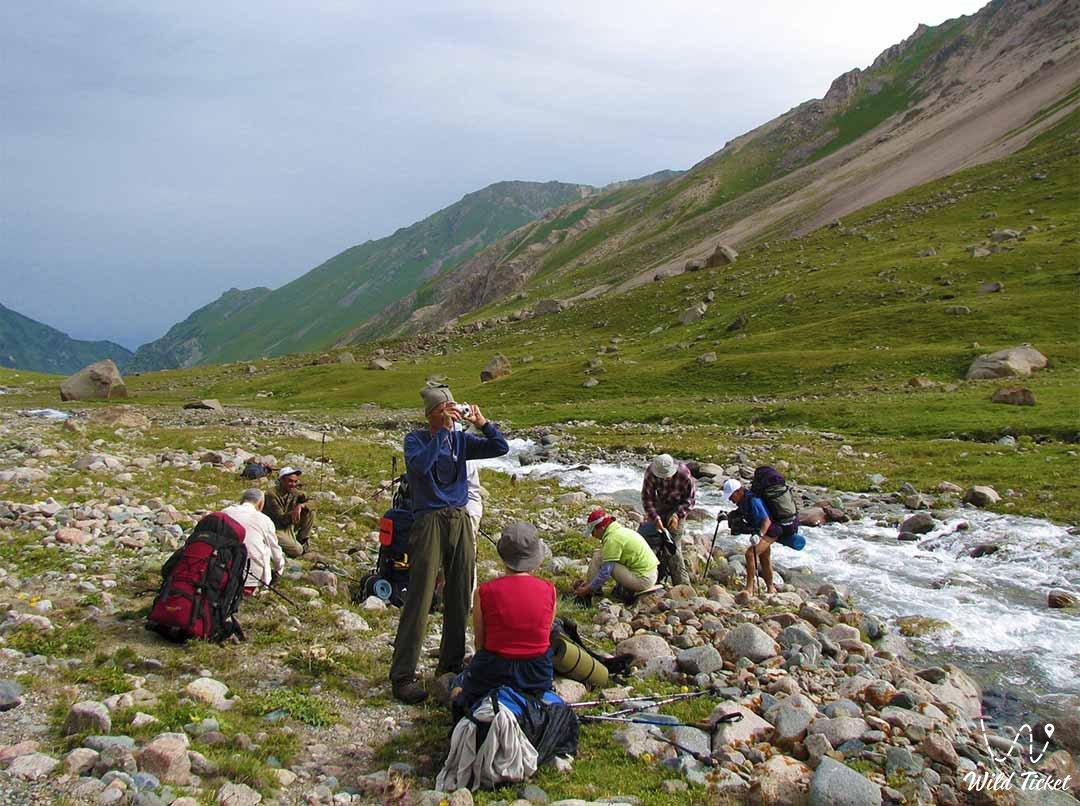 Kaskelen gorge and Dolan Mountain plateau.