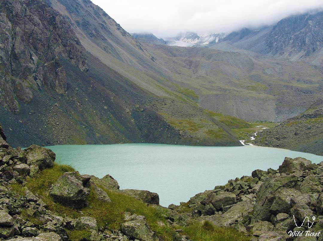 Lake Akkol, upper reaches of the Issyk River.