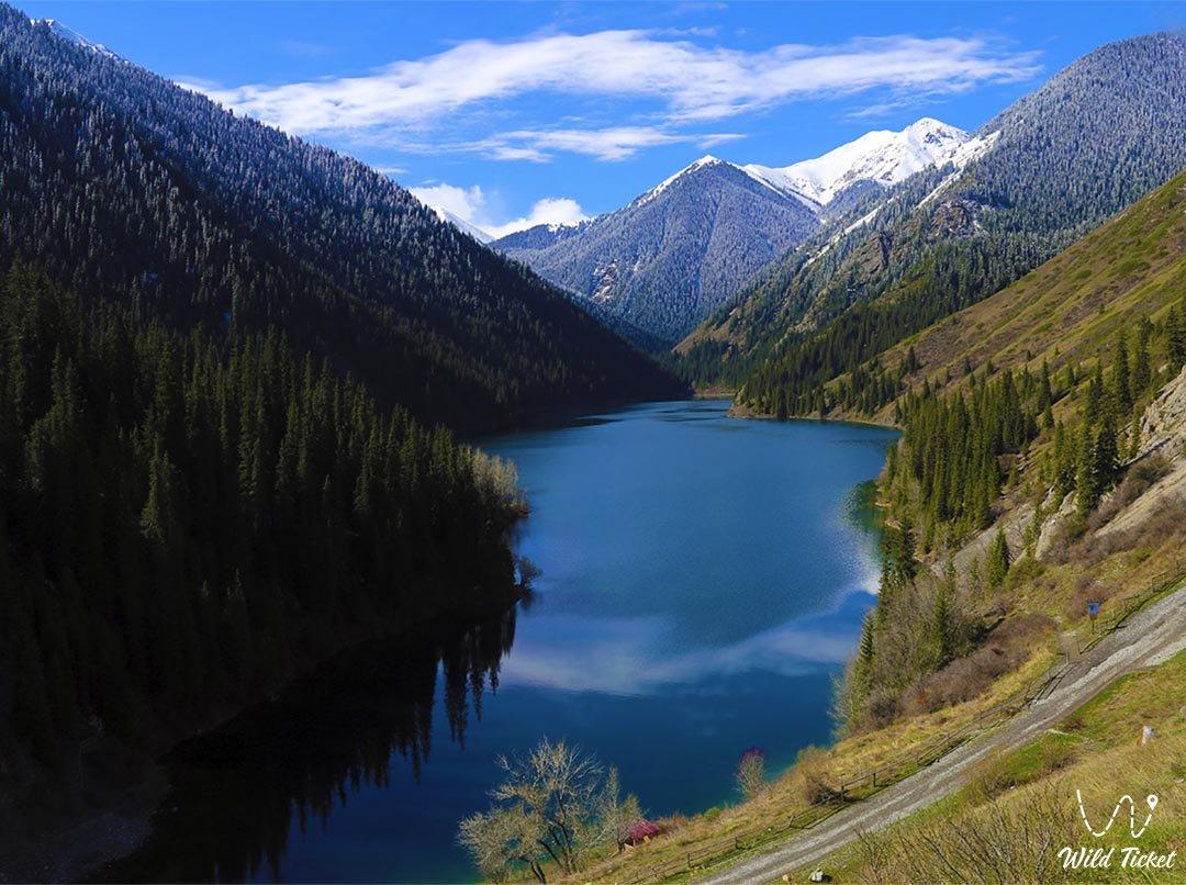 Mountain gorge Kolsay.